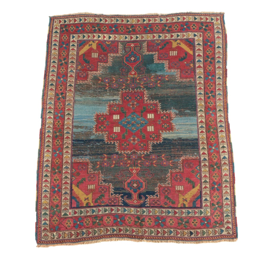 Hand-Knotted Persian Afshar Wool Area Rug