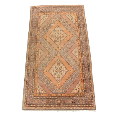 Hand-Knotted Samarkand Khotan Wool Long Rug