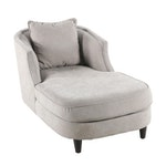 Contemporary Linen Upholstered Chaise Lounge