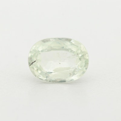 Loose 1.11 CT Green Sapphire Gemstone