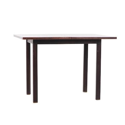 Dunbar Walnut Mid Century Modern Flip Flop Table, Mid-20th Century