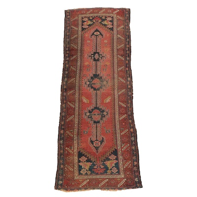 Hand-Knotted Persian Bijar Wool Carpet Runner