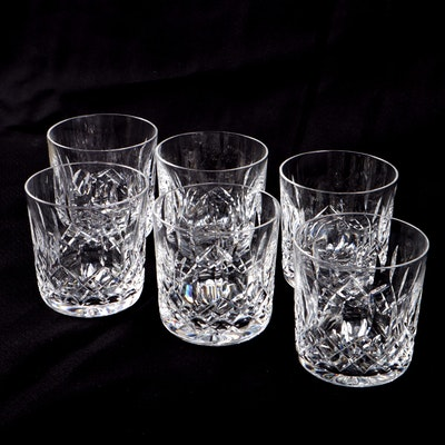"Waterford ""Lismore"" Old Fashioned Glasses, Set of Six"