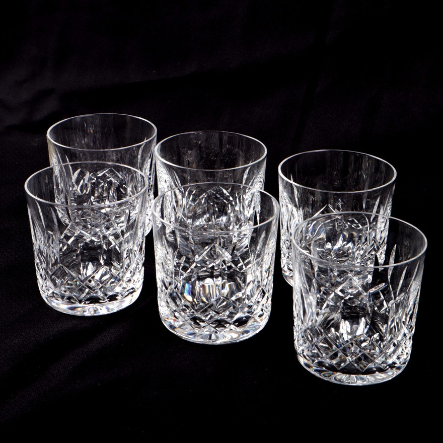 """Waterford """"Lismore"""" Old Fashioned Glasses, Set of Six"""