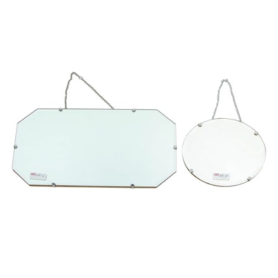 Art Deco Style Beveled Edge Mirrors