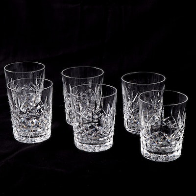 "Waterford ""Lismore"" Double Old Fashioned Glasses, Set of Six"