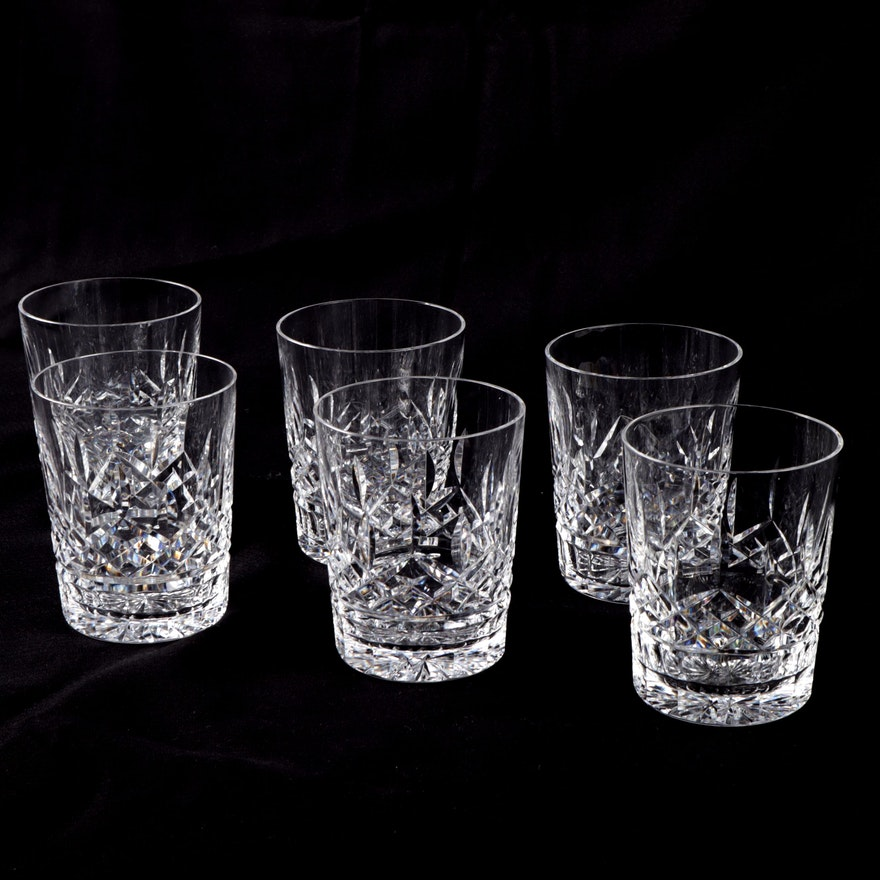"""Waterford """"Lismore"""" Double Old Fashioned Glasses, Set of Six"""