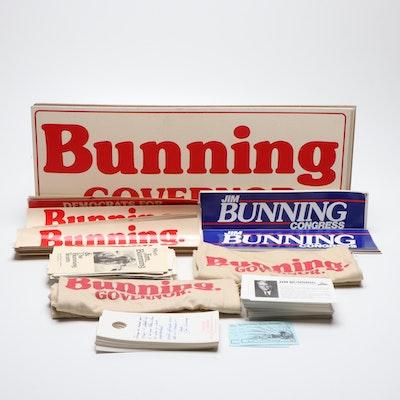 Hall of Fame Baseball Pitcher and Former US Senator Jim Bunning Campaign Items