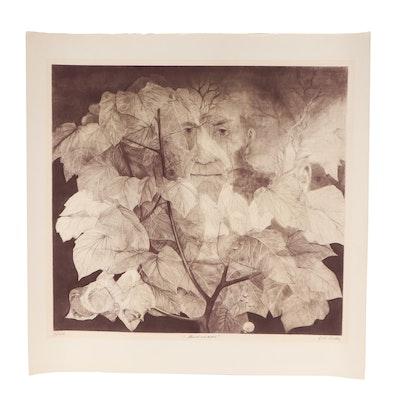 "G.H. Rothe Mezzotint Engraving ""Mindscape"""