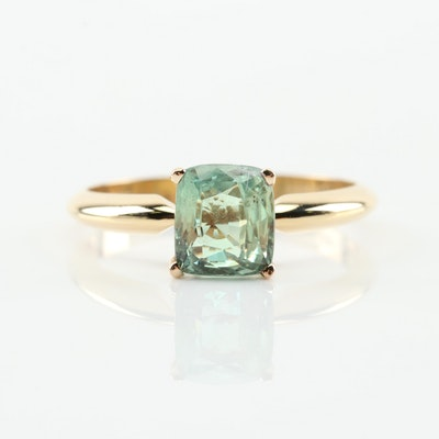 18K Yellow Gold 1.56 CT Alexandrite Ring