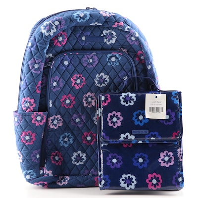 "Vera Bradley ""Ellie Flowers"" Laptop Backpack and Lunch Sack"