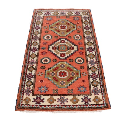 Hand-Knotted Ind0-Persian Heriz Wool Rug
