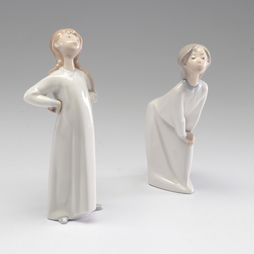 Lladró Porcelain Girl Figurines