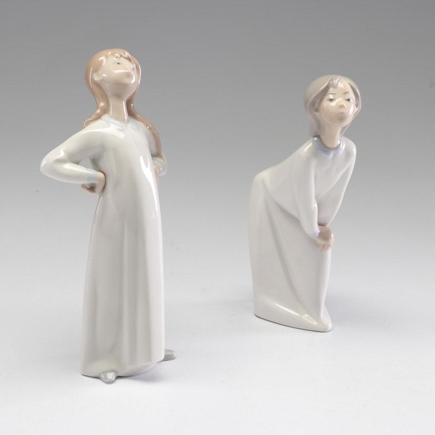 Lladró Porcelain Girl Figurines