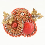 Circa 1960s Miriam Haskell Art Glass Brooch