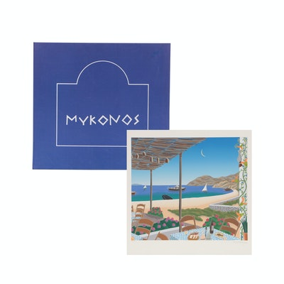 "Thomas McKnight Serigraph Portfolio ""Mykonos"""