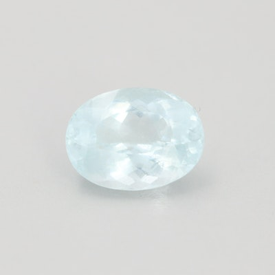 Loose 5.20 CT Aquamarine Gemstone