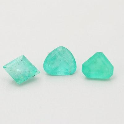 Loose 3.95 CTW Emerald Gemstones