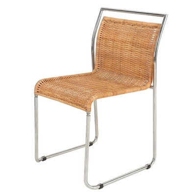 Metal and Wicker Side Chair