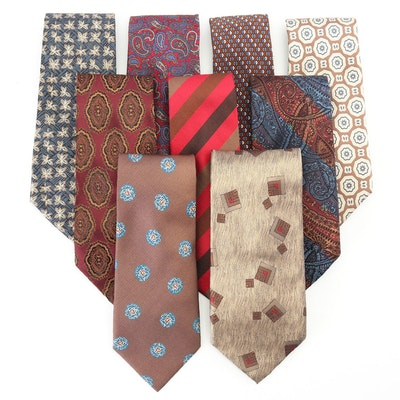 Valentino, Alexander Julian, Bevilacqua, Jim Thompson, and Other Silk Neckties