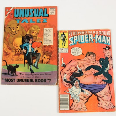 """""""Peter Parker, the Spectacular Spider-Man"""" and """"Unusual Tales"""" Comic Books"""