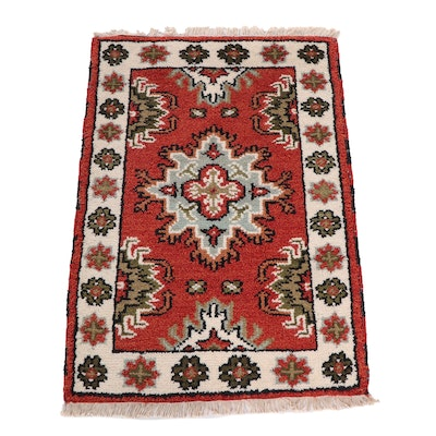 Hand-Knotted Indo-Persian Heriz Wool Rug