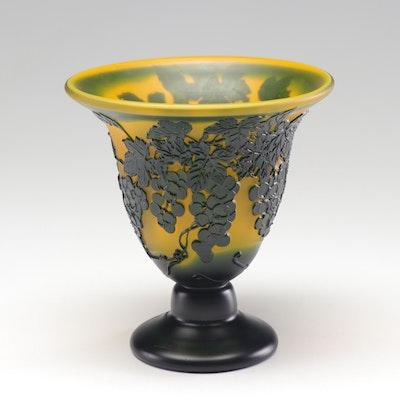 Reproduction Gallé Glass Vase