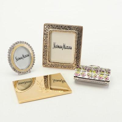 Judith Leiber Pill Box, St. John Jeweled Frames and Yves St. Laurent Mirror