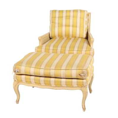 Henredon Chair with Matching Ottoman