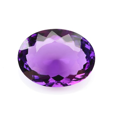 Loose 25.66 CT Amethyst Gemstone