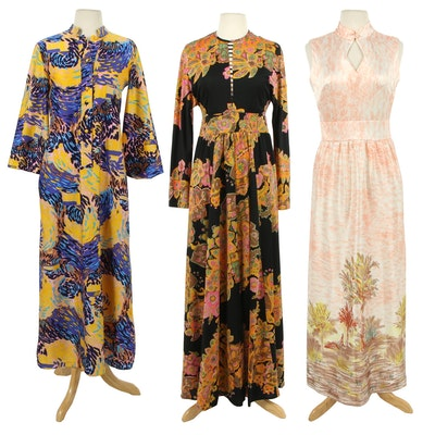 Loreva Sweethome, Don Luis Maxi and Ricano Dresses, 1970s Vintage
