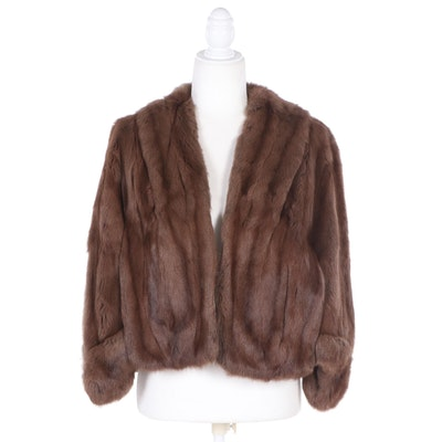 Georges Henri for Jordan Marsh Squirrel Fur Capelet, 1940s Vintage