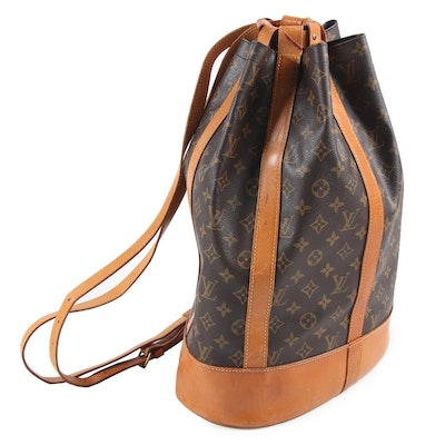 Louis Vuitton Paris Randonnee GM Backpack Bag in Monogram Canvas