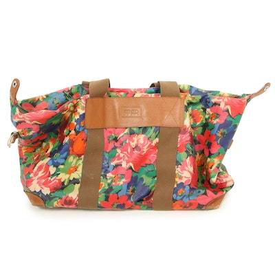 Kenzo Paris Multicolor Floral Print Coated Canvas Weekender Bag