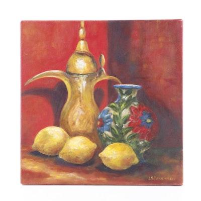 L. Stefanidakis Still Life Oil Painting