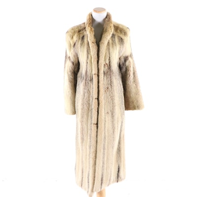 Cross Mink Fur Coat, Vintage