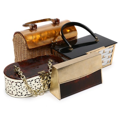 Marcus Brothers Basket Handbag with Other Box Purses