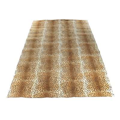 Power Loomed Leopard Print Room Sized Rug