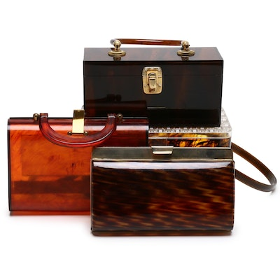 Encore Imports Marbled Top Handle Bag with Others