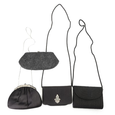 Judith Leiber, Jay Herbert New York, Walborg, and Other Black Evening Bags