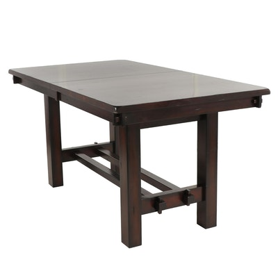 Contemporary Wooden Farm Style Dining Table