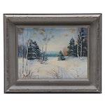 """E.M. Wilson Landscape Oil Painting """"Fairy Lake, Huntsville"""""""
