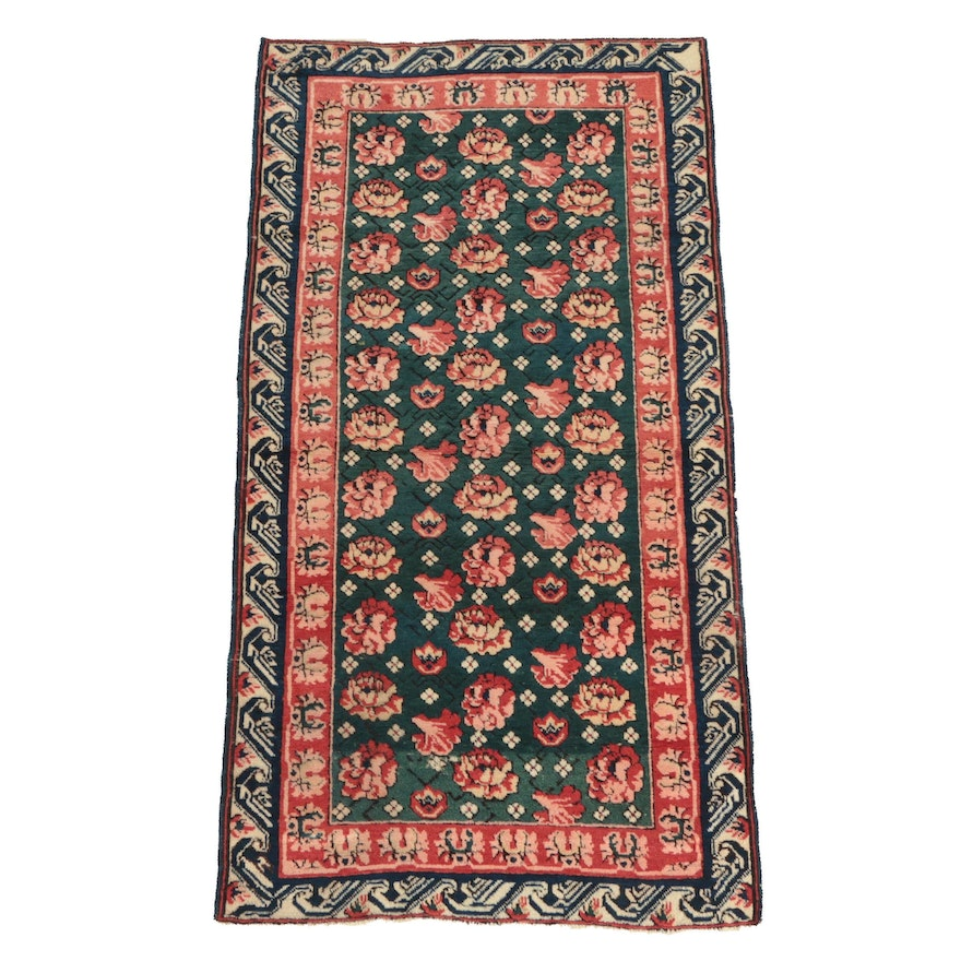 Hand-Knotted Caucasian Seychour Wool Area Rug