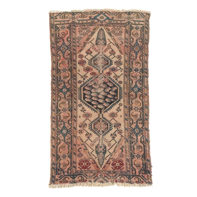 Hand-Knotted Persian Bahktiari Wool Area Rug