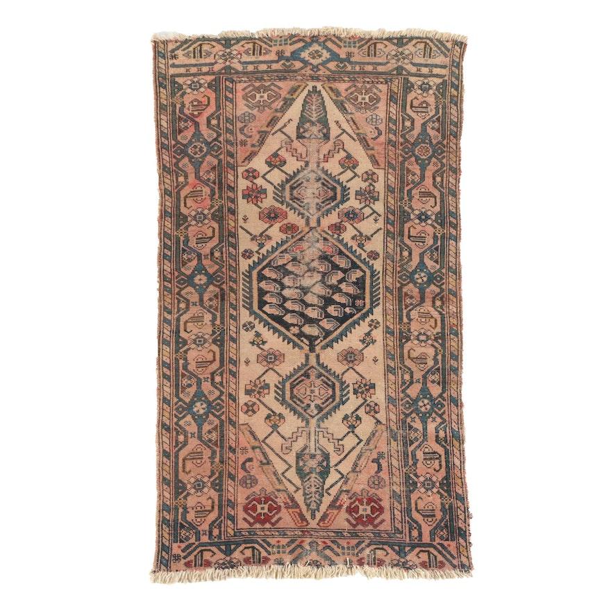 Hand-Knotted Persian Bahktiari Wool Area Rug