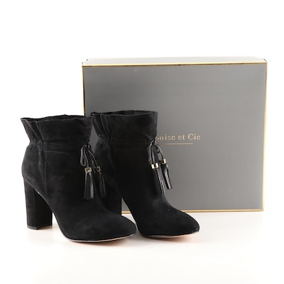 Louise et Cie Black Suede Lo-Taedin Booties with Tassels