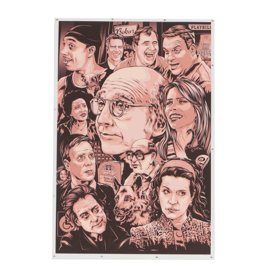 """""""Curb Your Enthusiasm"""" Serigraph Designed by Ken Taylor"""