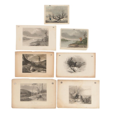 Early 20th Century Engravings of Hunting Scenes