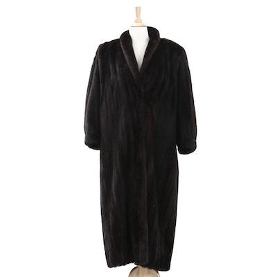 Lanvin Blackglama Dark Ranch Mink Fur Coat