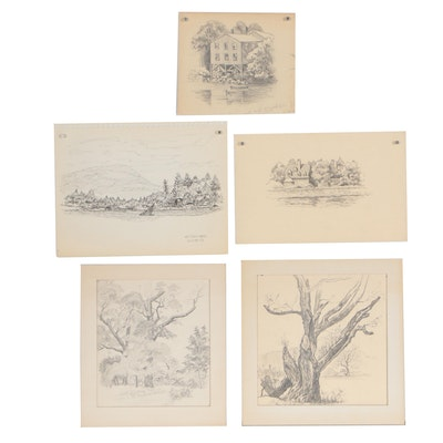 Early-Mid 20th Century Landscape Drawings